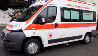Nuova ambulanza della CRI di Masone