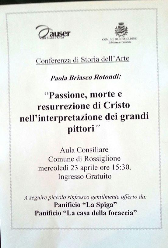 Conferenza di Storia dell'Arte Paola Briasco Rotondi