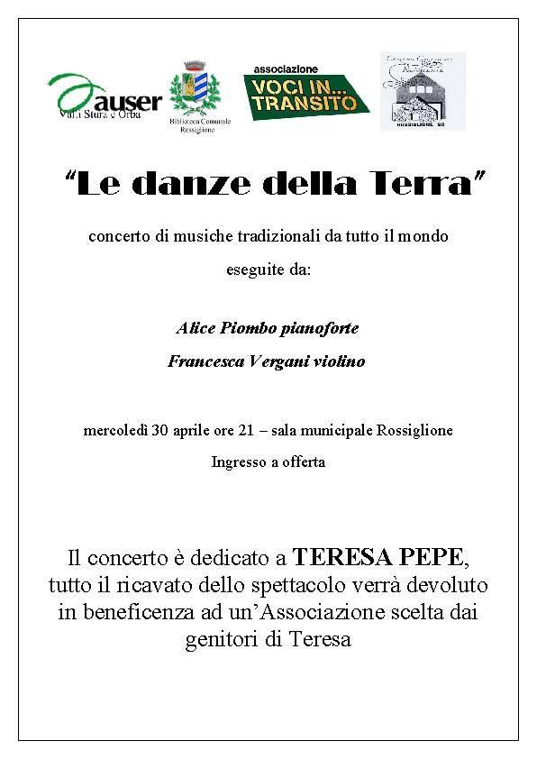 Locandina spettacolo per Teresa Pepe