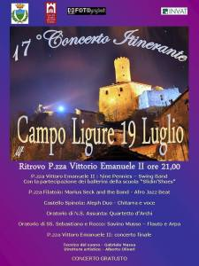17° Concerto itinerante a Campo Ligure
