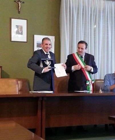Conferimento cittadinanza onoraria a Franco Paolo Oliveri da parte del Comune di Campo Ligure.