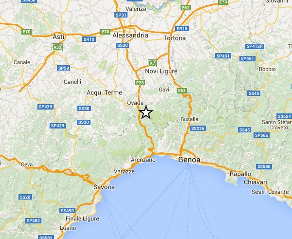 Terremoto a Rossiglione
