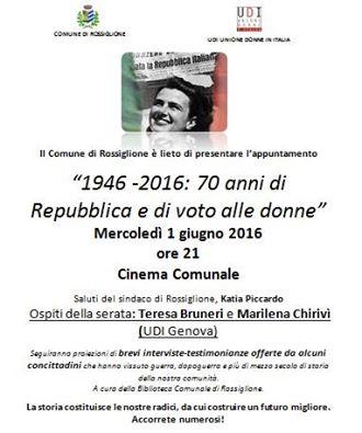 esta della repubblica a Rossiglione