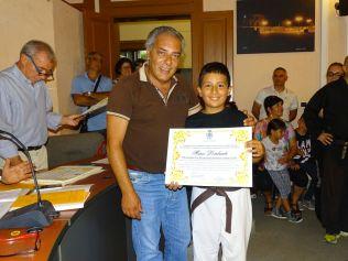 il sindaco premia Lombardo