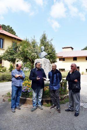 Da sinistra: Pantusa, il dr.Guzzardi, il dr. Cavallo e il giornalista Pianelli