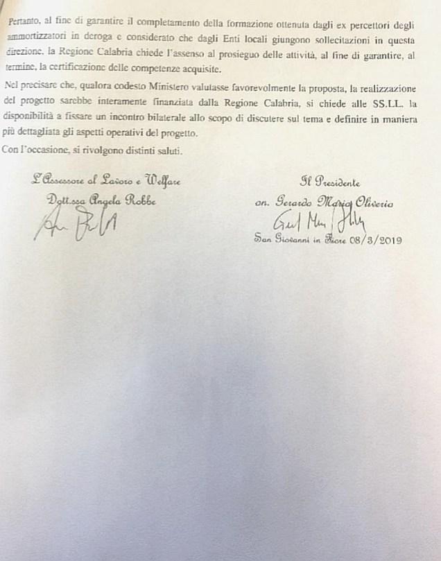 NOTA INVIATA AL MINISTERO DELL'INTERNO IN DATA 08.03.2019 SECONDA PAGINA