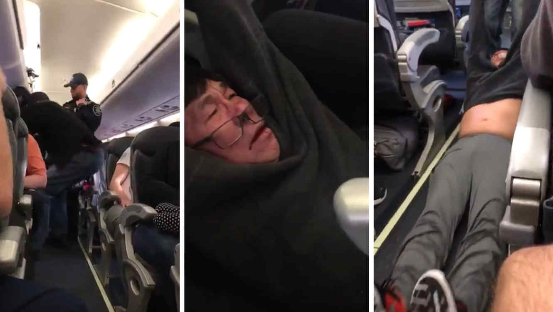 Resultado de imagen para united airlines saca un pasajero a la fuerza