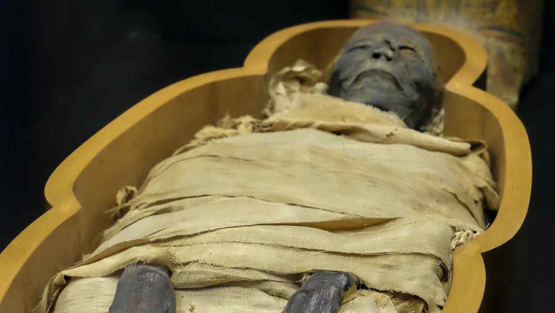 El cuerpo momificado estaba rodeado de imágenes religiosas. (Imagen ilustrativa de una momia)