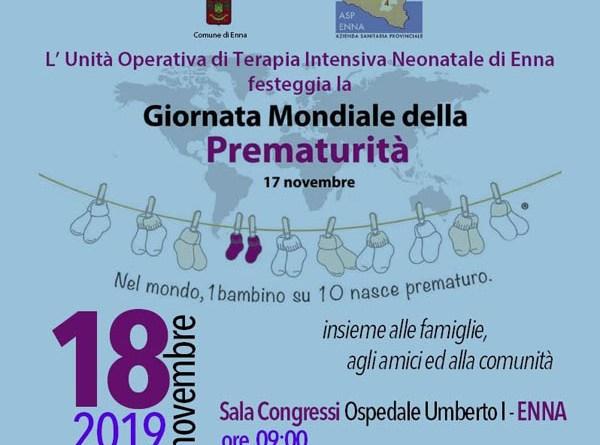 """L'Asp di Enna e le iniziative per la """"La giornata mondiale della Prematurità"""""""