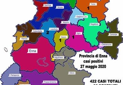Coronavirus. Aggiornamento sul numero di positivi per ogni comune della provincia di Enna (27 maggio 2020)