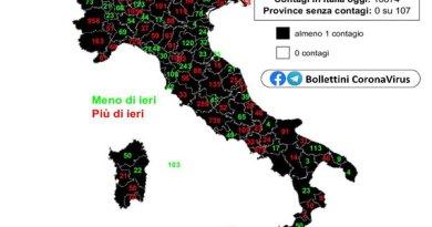 Coronavirus. In Italia il 20 ottobre nelle ultime 24 ore i nuovi contagi sono 10.874, i decessi 89