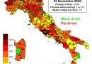 Coronavirus. In Italia il 23 novembre nelle ultime 24 ore i nuovi contagi sono 22.930, i decessi sono 630
