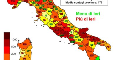 Coronavirus. In Italia l'1 dicembre nelle ultime 24 ore i nuovi contagi sono 19.350, i decessi sono 785