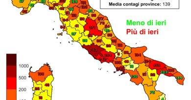 Coronavirus. In Italia il 27 gennaio nelle ultime 24 ore i nuovi contagi sono 15.204 i decessi sono 467