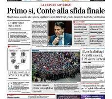 Quotidiani Nazionali         Prime pagine di oggi | Martedì 19 Gennaio 2021