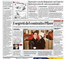 Quotidiani Nazionali      Prime pagine di oggi   Lunedì 25 Gennaio 2021