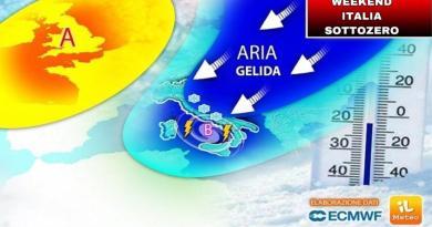 Weekend 16-17 gennaio, Italia sotto zero: ecco dove