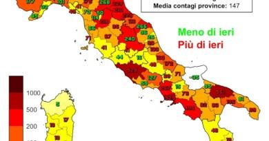 Coronavirus. In Italia il 24 febbraio nelle ultime 24 ore i nuovi contagi sono 16.424 i decessi sono 318