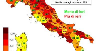 Coronavirus. In Italia il 3 marzo nelle ultime 24 ore i nuovi contagi sono 20.884, i decessi sono 347