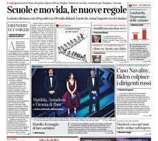 Prime pagine dei giornali di oggi            Rassegna Stampa   Mercoledì  3 Marzo 2021