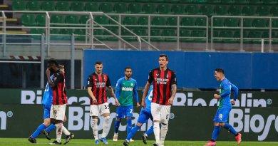 Doppietta Raspadori e Milan ko, Sassuolo vince 2-1