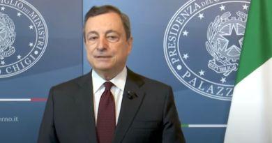 """Clima, Draghi """"Affrontare cambiamento ora per non rimpiangere dopo"""""""