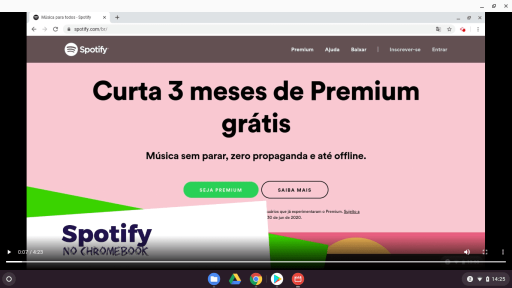 Spotify no Chromebook