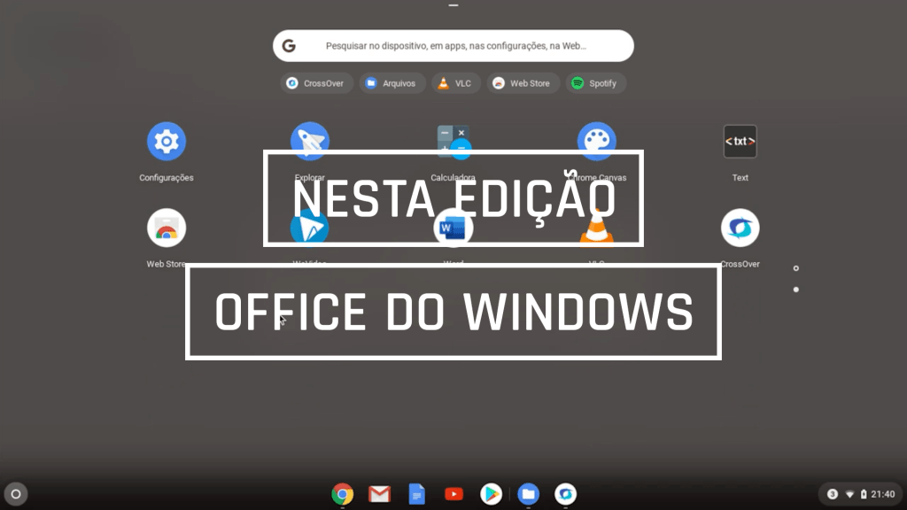O Office do Windows no Chromebook