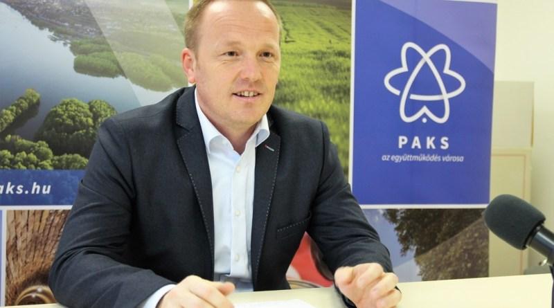 Szabó Péter Paks polgármestere. Fotó: Vida Tünde