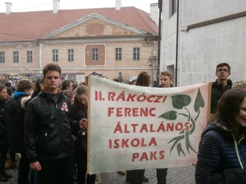 A Paksi II. Rákóczi Ferenc Általános Iskola diákjai Kézdivásárhelyen. Fotó: magán archívum