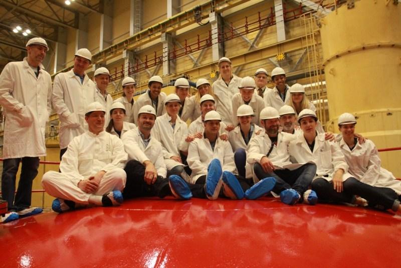 A reaktorcsarnokban is jártak a szekszárdi kosaraslányok. Fotó: Vida Tünde
