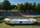 Az új rendezvényhajó a megérkezésekor. Fotó: Babai István/Paksi Polgármesteri Hivatal
