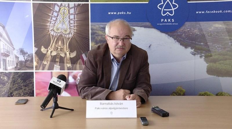 Barnabás István, Paks alpolgármestere. Fotó: TelePaks