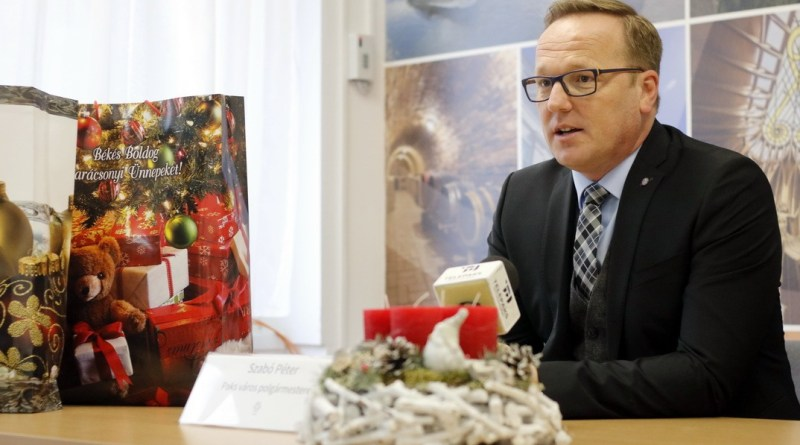 Szabó Péter, Paks polgármestere. Fotó: Molnár Gyula/Paksi Hírnök