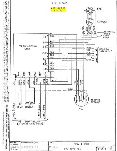 GTE Decorator and Antique Telephone Conversion Wiring Diagrams