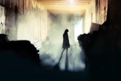 girl in warehouse
