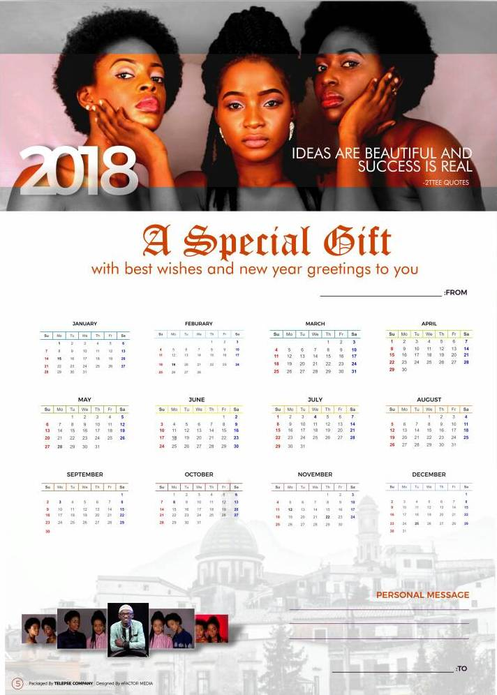 2ttee photomodels on calendar