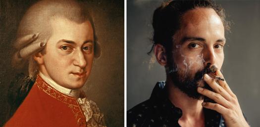 Mozart peint par Barbara Kraft en 1819, et Pierre-Henri Dutron, 31 ans.