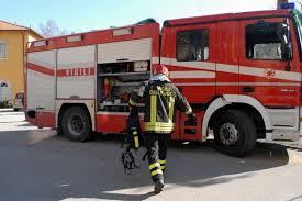 Foto dei vigili del fuoco di Civitavecchia.