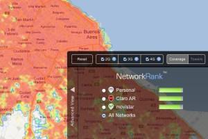 Mapa de cobertura en Buenos Aires, según OpenSignal