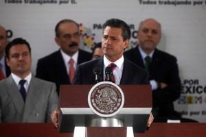 El Presidente de México, Enrique Peña Nieto, durante la ceremonia de firma de la Reforma en Telecomunicaciones, celebrada este lunes 10 de junio. Imagen: Presidencia.