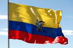 Bandera de Ecuador. Imagen: Presidencia Ecuador.