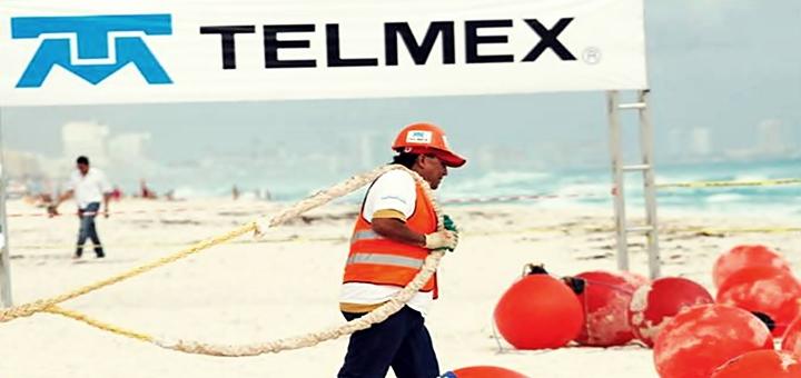 Amarre del AMX-1 en Cancún, México. Imagen: Telmex.