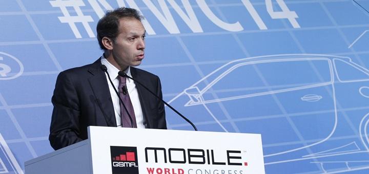 Daniel Hajj, CEO de América Móvil, en el Mobile World Congress 2014. Imagen: GSMA.