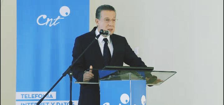 Cesar Regalado Iglesias, gerente general de la Corporación Nacional de Telecomunicaciones CNT EP. Imagen: CNT