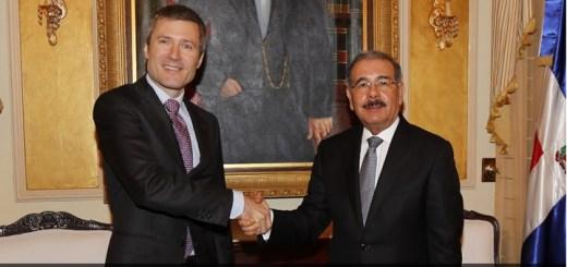 Martin Ross se reunió con el presidente Danilo Medina. Imagen: Presidencia República Dominicana.