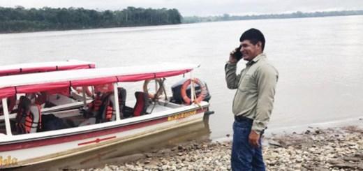 Servicio móvil en Amazonia. Imagen: CNT.
