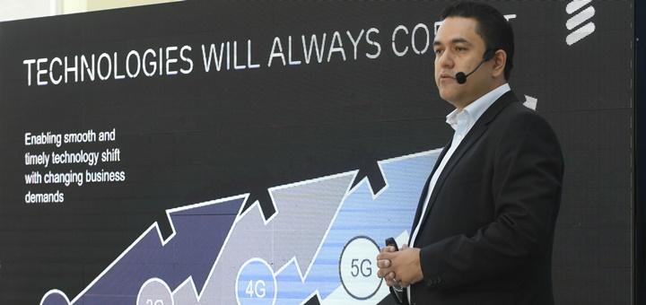 Eduardo Castañon en la presentación de pruebas 5G en Argentina. Imagen: Ericsson
