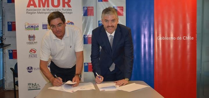 Subtel y AMUR firman acuerdo de cooperación. Imagen: Subtel.