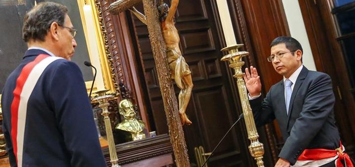 Edmer Trujillo asumió como titular del MTC. Imagen: Presidencia de Perú.